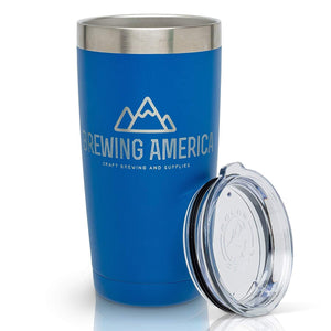 20oz Stainless Steel Tumbler - Travel Cup with Lid - Double Wall, Vacuum Insulated Accessories Brewing America