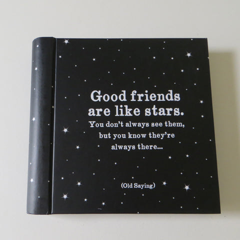Quotable Address Book Good Friends are LIke Stars.