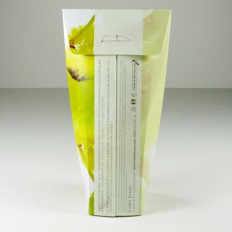 Linden Leaves Aromatherapy Synergy Pick Me Up Foaming Shower Gel Back of Packaging