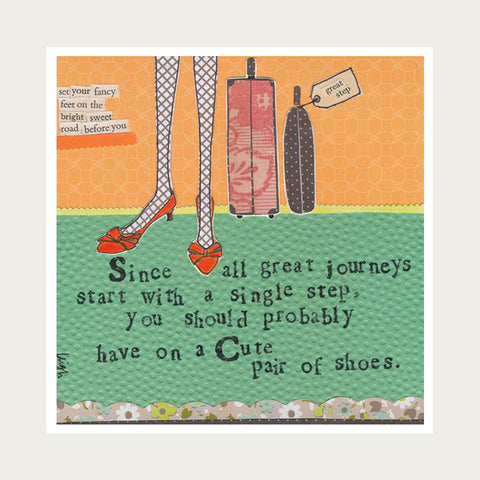 Curly Girl Design Card - Great Journeys.