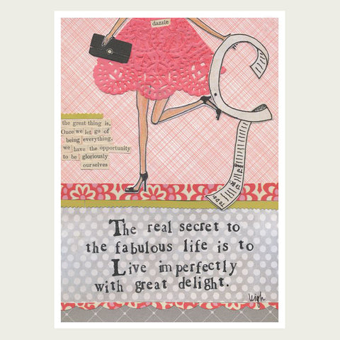 Curly Girl Design card Live Imperfectly.