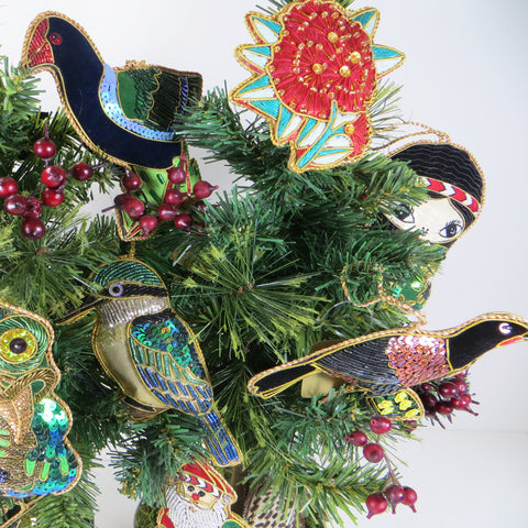 Takahe decoration on tree.