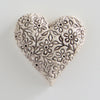 Matt cream daisy ceramic heart.