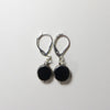 Noir earrings viewed from above.