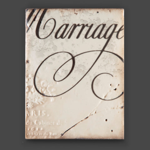 T236 Union Sid Dickens Memory Block featuring the word 'Marriage'.