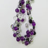 Detail on Purple Tangled Glory Necklace.