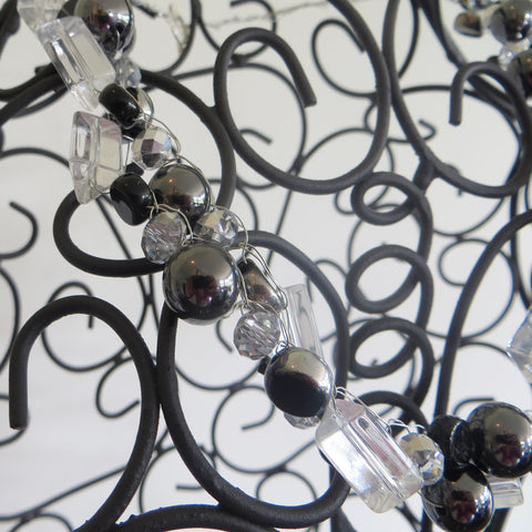 Close up of Twisted Noir Necklace.