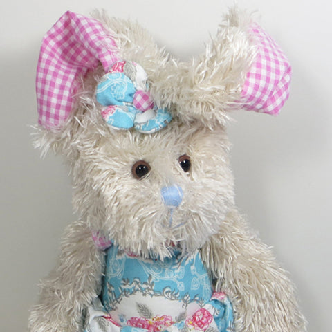 Vintage Rose Rabbit with blue dress.