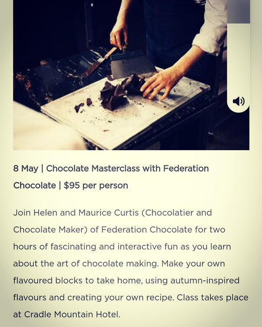 BIg announcement for our chocolate master classes.