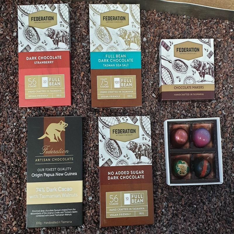 Dark Chocolate blocks and box gift pack with express shipping included.
