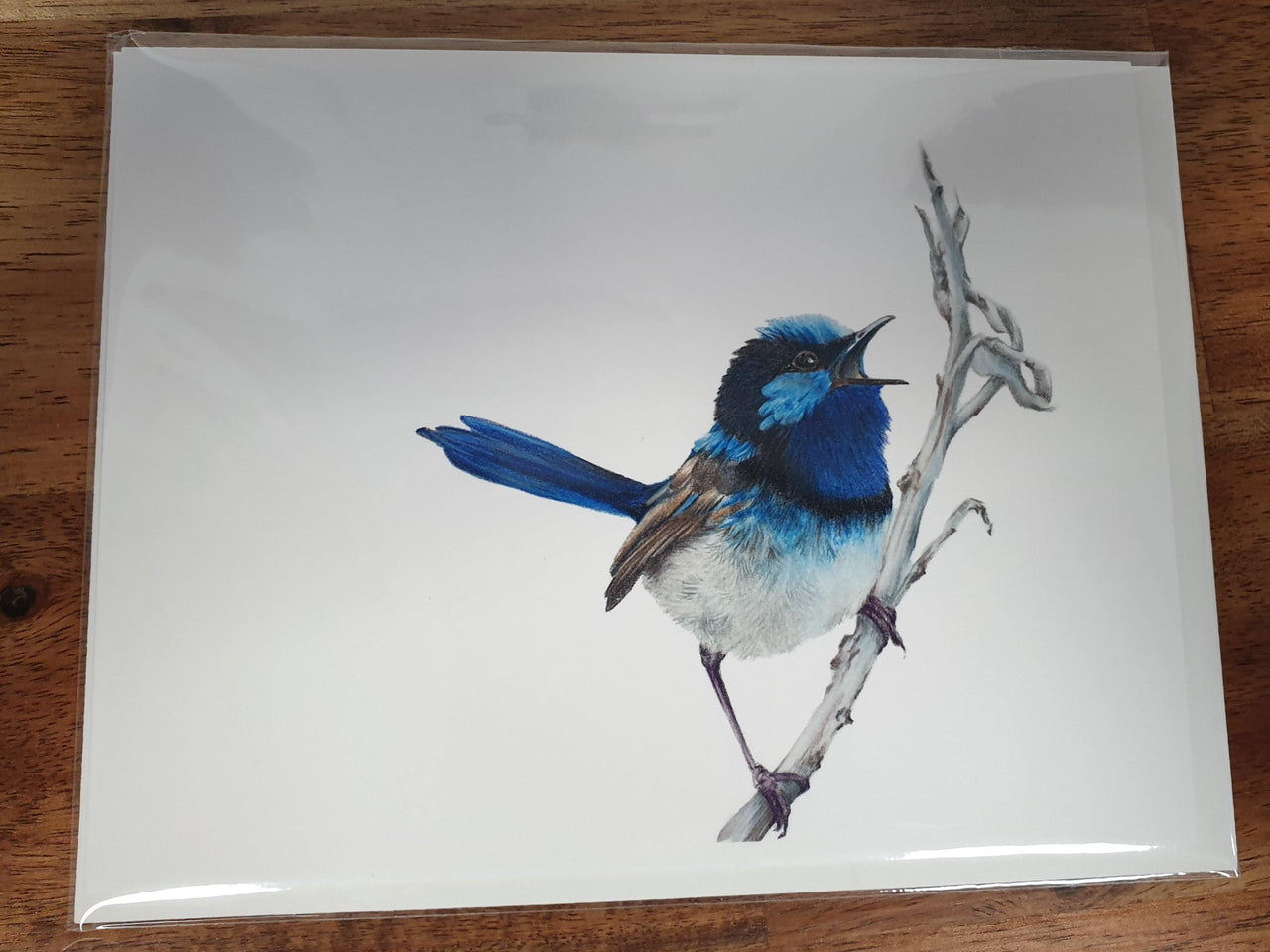 Blue Wren Card