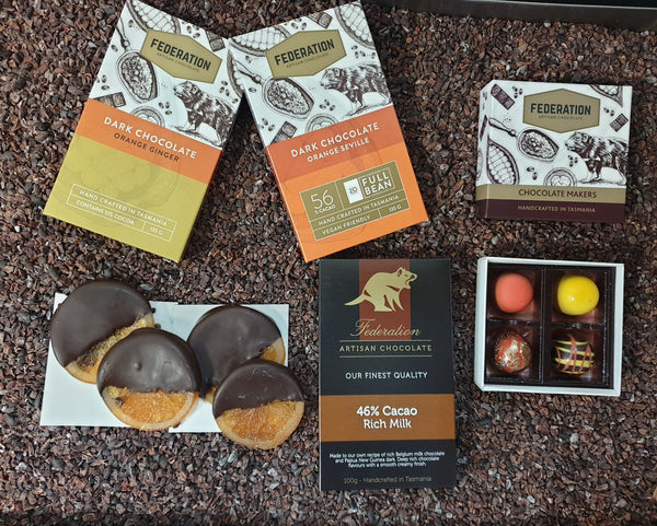 Orange chocolate gift pack with express post