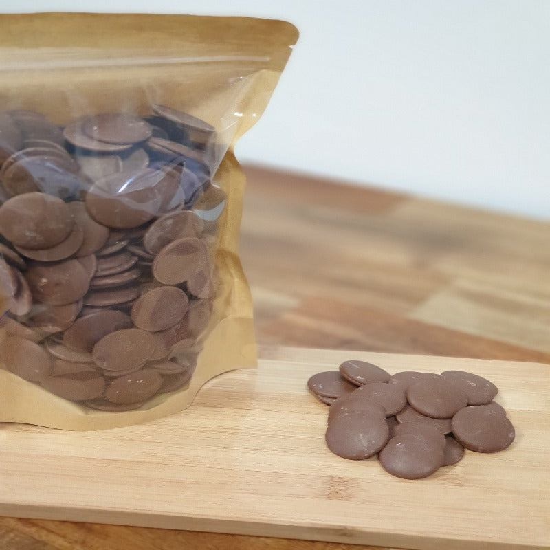 Milk  chocolate buttons.