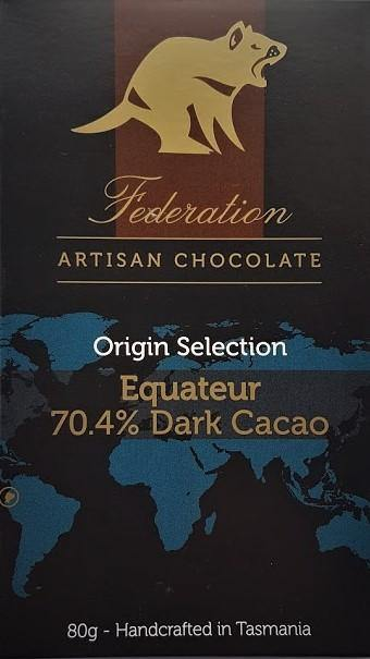 Equateur 70% Dark Cacao - Federation Artisan Chocolate - Tasmania