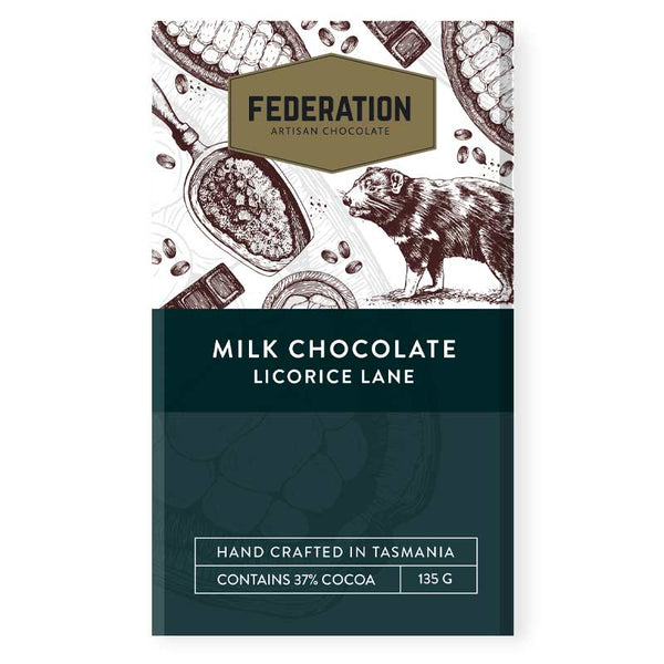 fudgey - Licorice Lane - Licorice Pieces in Milk Chocolate
