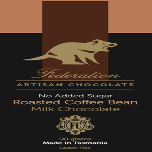 fudgey - Roasted Coffee Bean in no added sugar milk chocolate