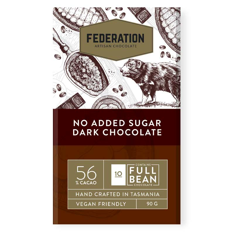 fudgey - No Added Sugar Dark Chocolate