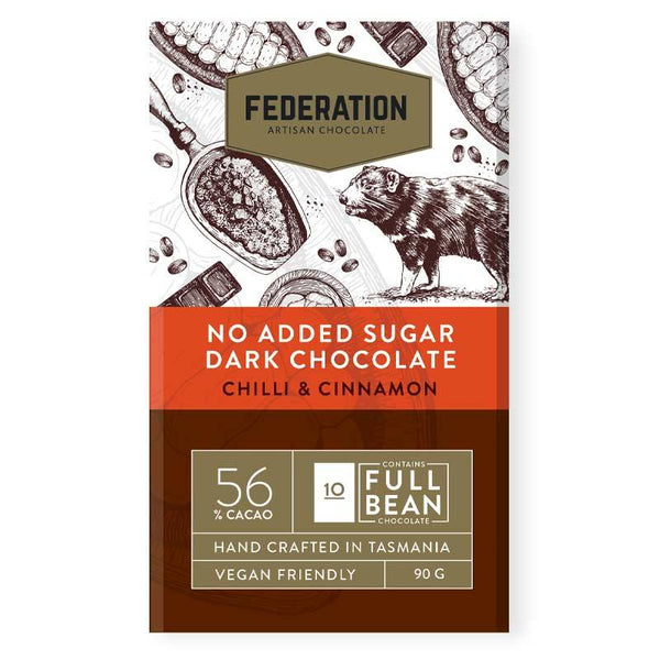 fudgey - Chili Cinnamon - Dark Chocolate - Sugar Free - Gluten Free