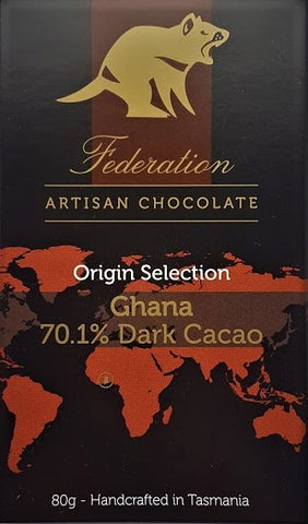 Image of The Origin Selection Premium Dark Chocolate - Federation Artisan Chocolate - Tasmania