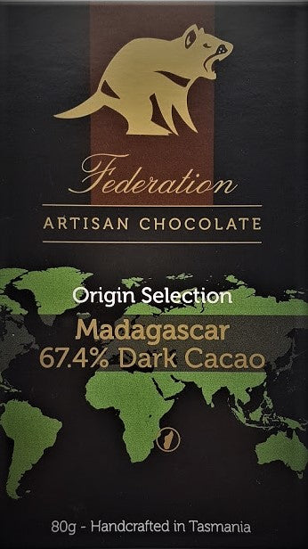 Madagascar 67% Dark Cacao - Origin Selection - Federation Artisan Chocolate - Tasmania