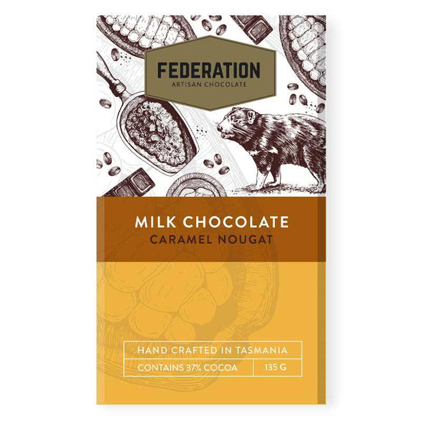 fudgey - Caramel Nougat Milk Chocolate