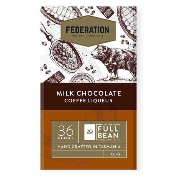 fudgey - Coffee Liqueur Milk Chocolate