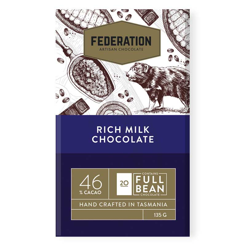 fudgey - Rich Milk Chocolate 46% Cacao
