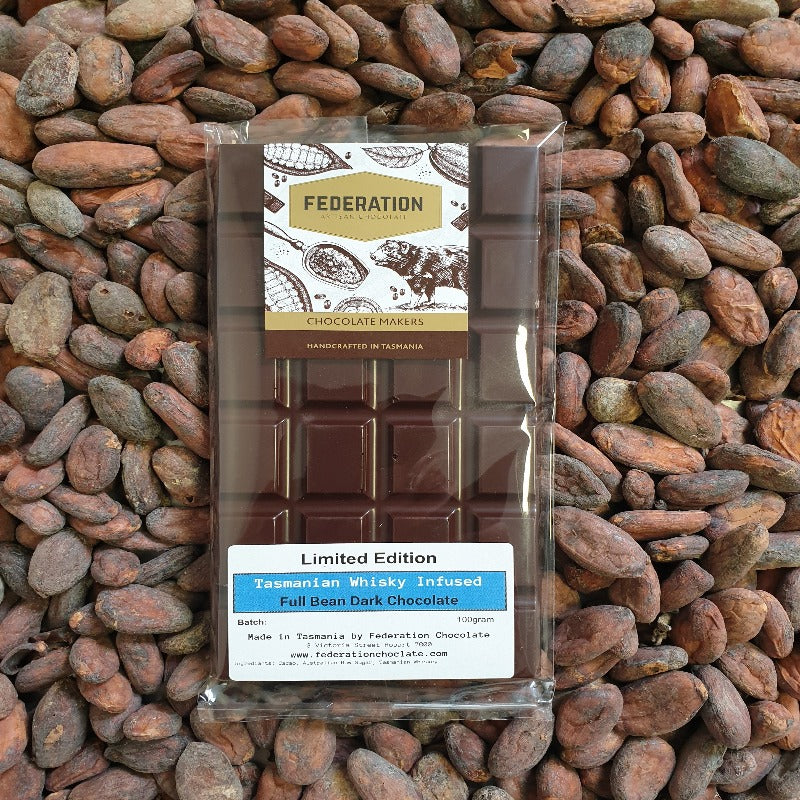 fudgey - Tasmanian Whisky Infused Cacao - Chocolate Block