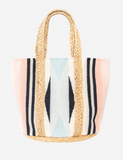 Antler | Jute/Cotton Woven Bag | Blush & Blue