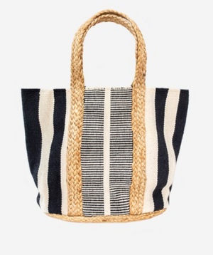 Antler | Jute/Cotton Woven Bag | Black & White