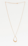 Stella + Gemma | Beaten Oval Necklace | Rose Gold