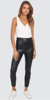 Lost in Lunar | Lex Leatherette Legging | Black