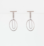 Stella + Gemma | T and Hoop Earrings | Silver