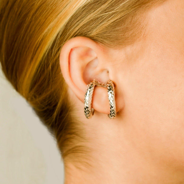VH x AA silver rope earclip