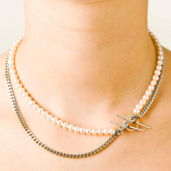 Iris Double Chain Necklace - Vibe Harsløf Jewelry