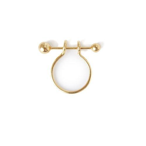 ANNA RING PIERCING, goldplated