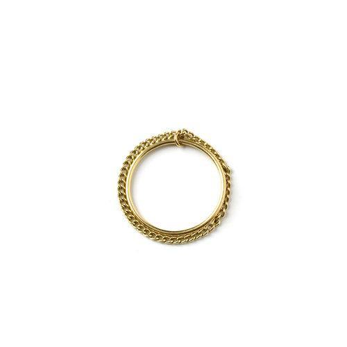 ELSA DOUBLE RING, gold