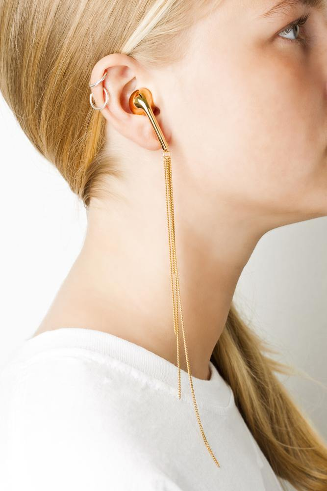 WE earphone w chains - Vibe Harsløf Jewelry