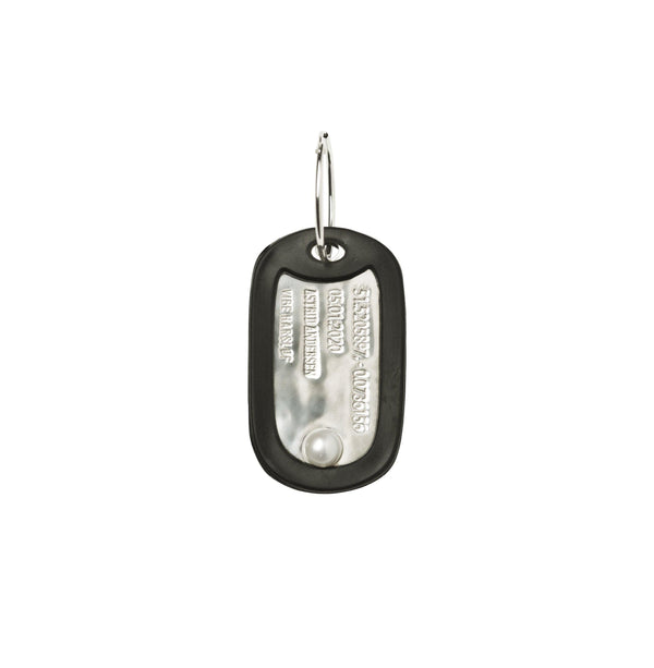 VH x AA dog tag with pearl earring