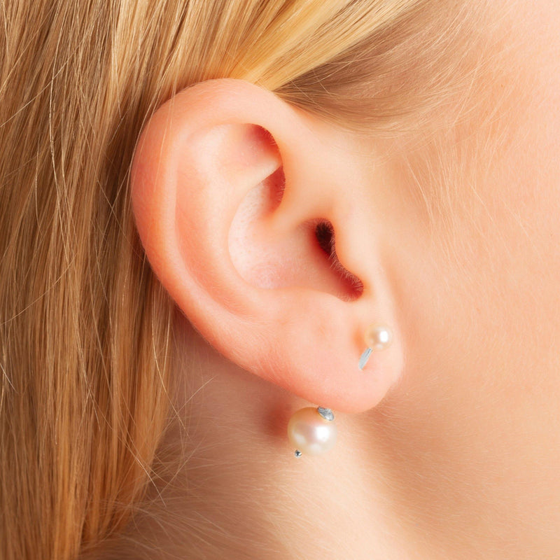 EAR BARS - Freshwater Pearls