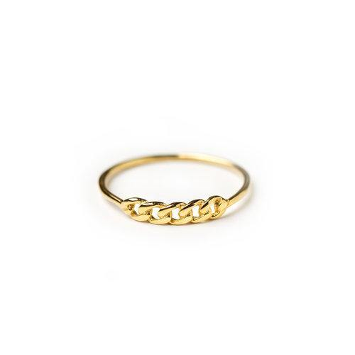 ELSA CHAINPART RING, gold