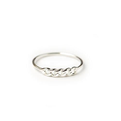 ELSA CHAINPART RING, silver