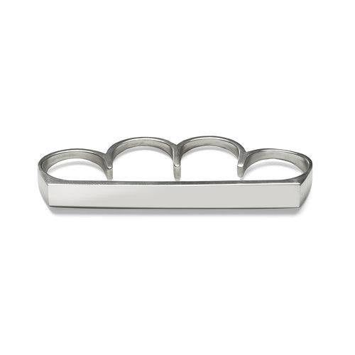 MAN Four-fingers RING, shiny silver