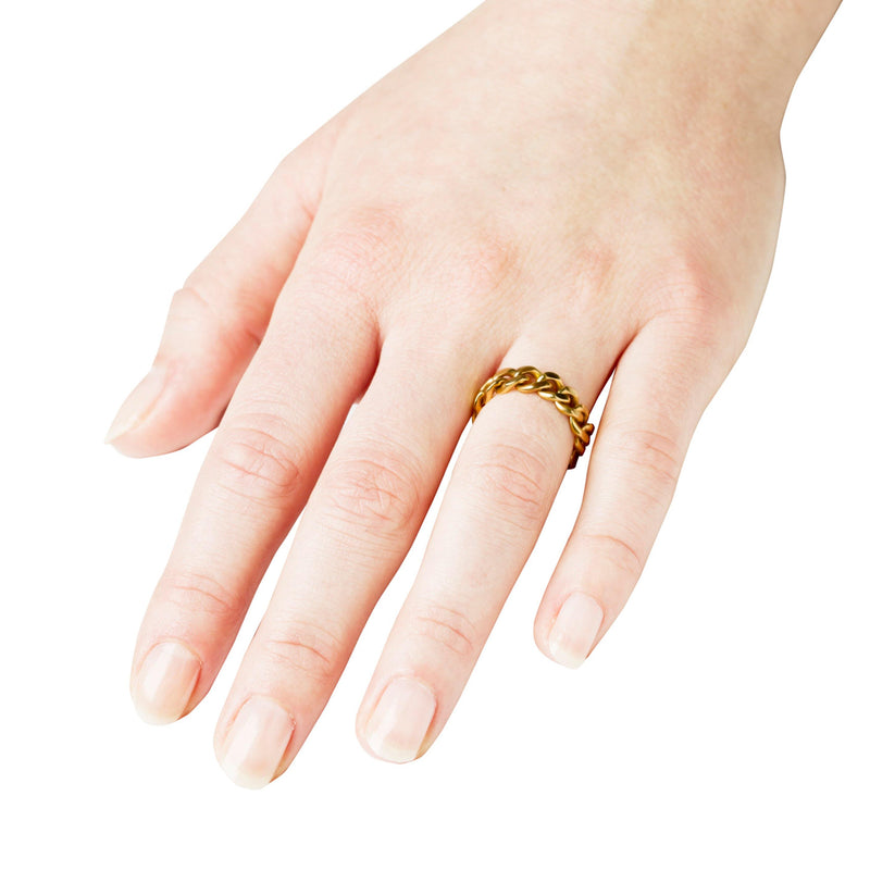 ELSA CHAIN RING SMALL - Vibe Harsløf Jewelry