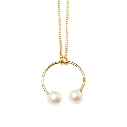 IRIS NECKLACE ROUND PIERCING STYLE, gold