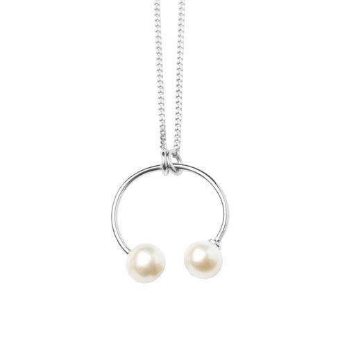 IRIS NECKLACE ROUND PIERCING STYLE, silver