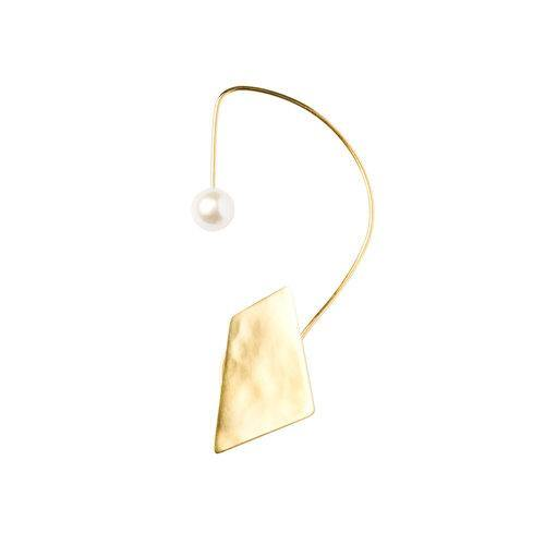 IRIS EARWRAP with square, goldplated