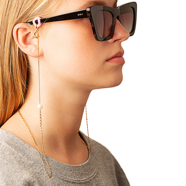 Iris Eyewear string 2 pearls - Vibe Harsløf Jewelry