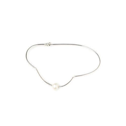 IRIS ANKLET 1 pearl, silver