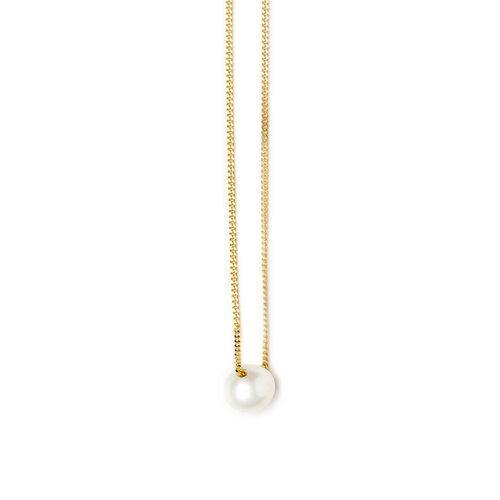 IRIS NECKLACE 1 PEARL, gold